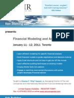 Financial Modeling & Analysis - Toronto, The Vair Companies