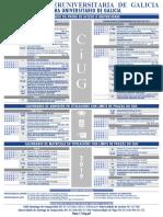 Calendario da proba de acceso á Universidade 2019