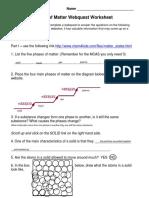nicky - phases of matter webquest worksheet