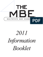 MBE 2011 Information