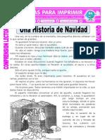Ficha Una Historia de Navidad Para Quinto de Primaria