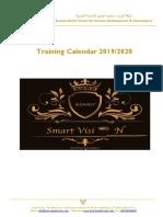Training Calendar 2019/2020