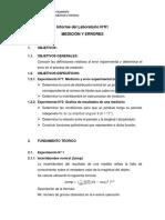 INFORME N°1 LABORATORIO FÍSICA I - MEDICIONES Y ERRORES