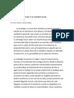 La Ontología Aplicada a La Realidad Social.