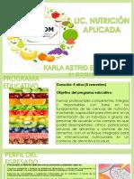 Presentación Lic. Nutrición Aplicada