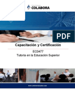 Certificación de Tutoría