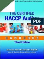 The Certified HACCP Auditor Handbook