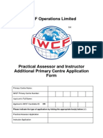 AC-0025 Practical Assessor and Instructor Additional Primary Centre Application Form