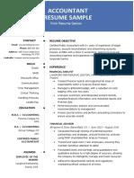 Accountant Resume Sample 2019
