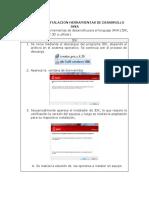 Manual de Instalacion Herramientas de Desarrollo Java