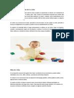 Características de Los Niños de 0 a 2 Años