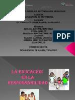 La Educacion en La Responsabilidad Etica y Valores
