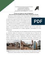 Tipos de Producción de Edificaciones - Publica, privada, espontanea - San Cristobal Venezuela