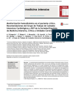 Monitorizacion Hemodinamica en Pac Critico