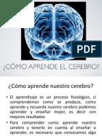 Como Aprende El Cerebro (Agosto 25)