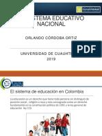 Presentación El Sistema Educativo Nacional
