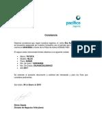 CONSTANCIA DE SEGURO