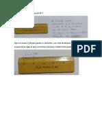 Procedimiento medición reglas en diagramas indicados