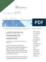 La bicicleta financiera - Su existencia .