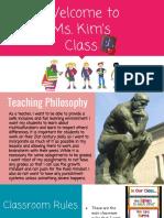 clasroom management plan