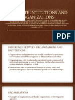 Nonstate Intitutions and Organizations