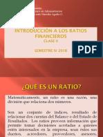 Clase 2 Ratios Financieros
