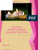 EQUATIONS and Quadratic Equation.part II