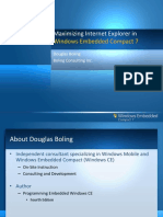 Webinar_Maximizing the Capabilities of Internet Explorer for Embedded in Windows Embedded Compact 7