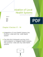 Organization of Local Health Systems