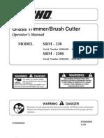 SRM230 Grass Timmer Manual