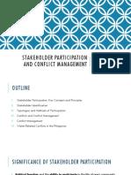 Public Participation & Conflict Management