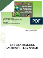 Ley General Del Ambiente ART. 1-6