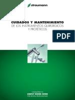 Cuidado y mantenimiento del materil quirurgico