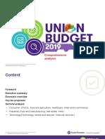 Union Budget 2019 Comprehensive Analysis