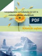 Funcționalitatea Curriculumului În Contextul Reformei Educaționale