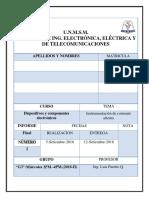 Informe Dispositivos Instrumentación en Corriente Alterna