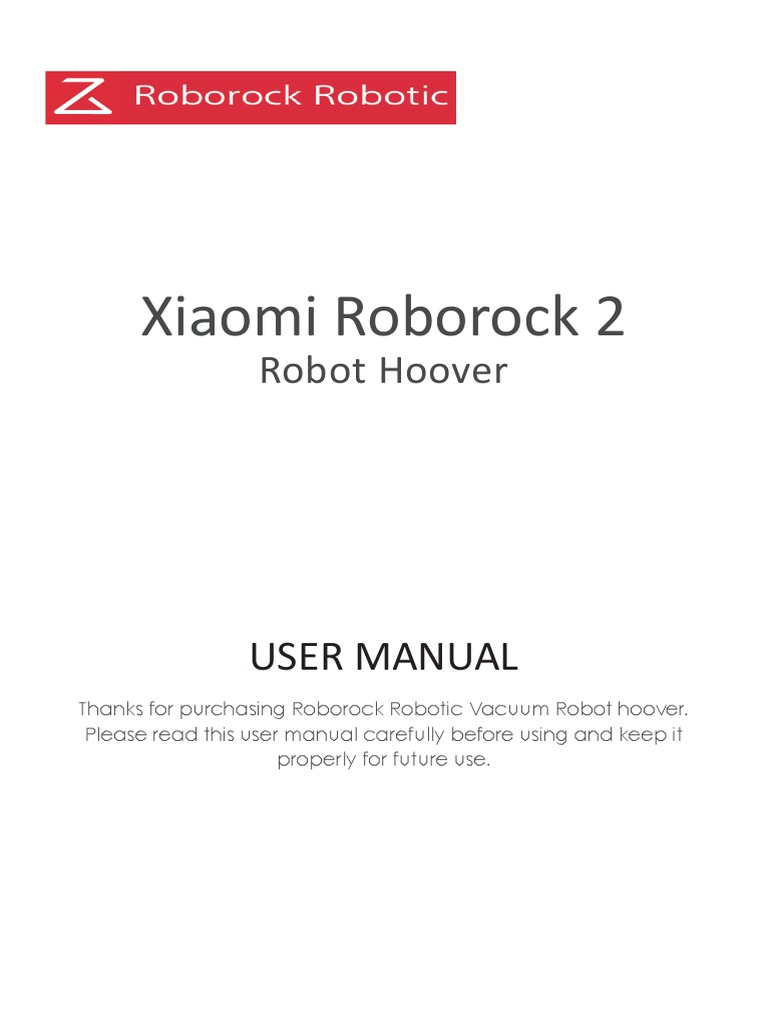 Xiaomi Roborock 2 User Manual | Electromagnetic