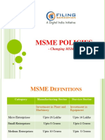 MSME Policies- Changing MSME Landscape