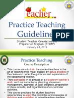 Practice Teaching Guidelines