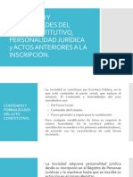 Contenido y Formalidades Del Acto Constitutivo, Personalidad