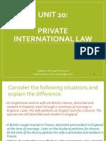 Unit 20.Private International Law