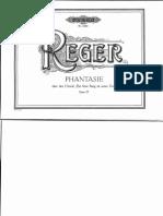 M. Reger - Ein Feste Burg Choralphantasie - Straube-Ausgabe