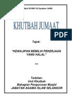 26.04.2019 (Rumi) Kewajipan Memilih Pekerjaan Yang Halal