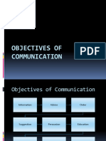 objectives of communication