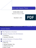 Asymptotic Least Squares Theory - Lecture Notes
