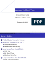 Quasi Maximum Likelihood Theory - Lecture Notes