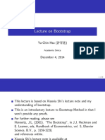 Lecture on Bootstrap - Lecture Notes