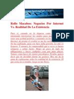 Rollo Macabeo Negocios Por Internet vs. Realidad de La Exist en CIA
