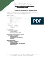 Lineas de Investigacion - Ing. Administrativa