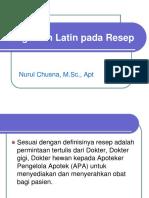 4.Singkatan Latin Dlm Resep